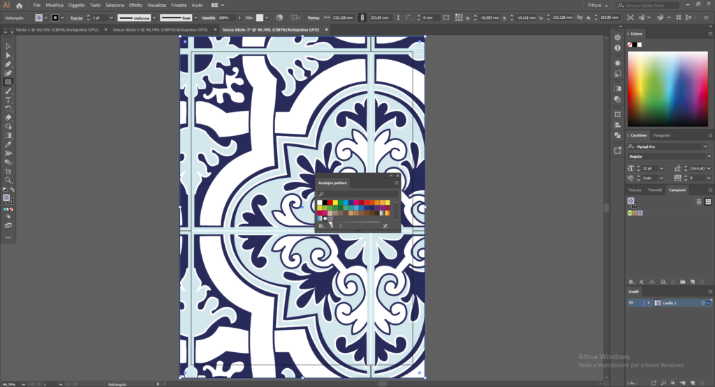 come usare i pattern in Illustrator  8