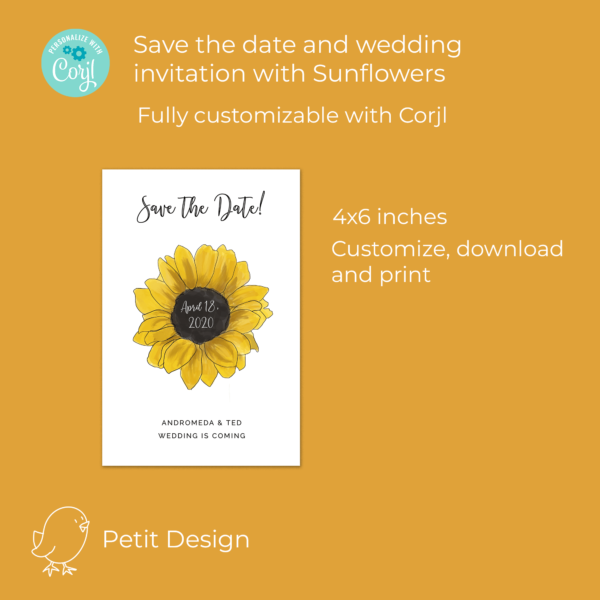 sunflower save the date