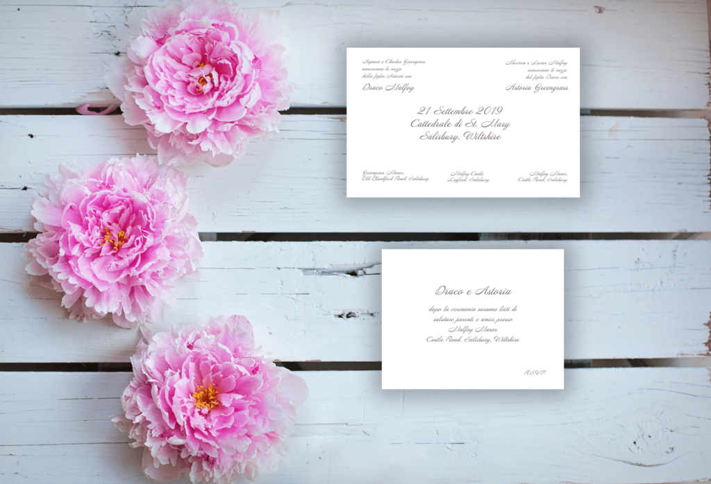 How to announce the wedding date: traditional layout