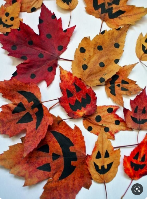 Halloween leaves